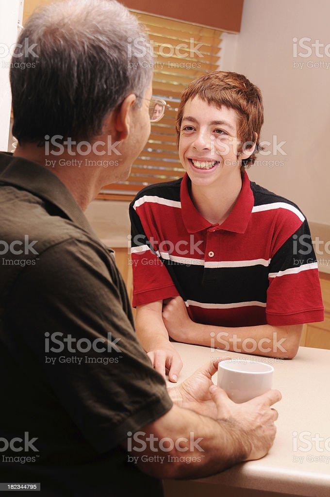 Father/Son Conversation stock photo