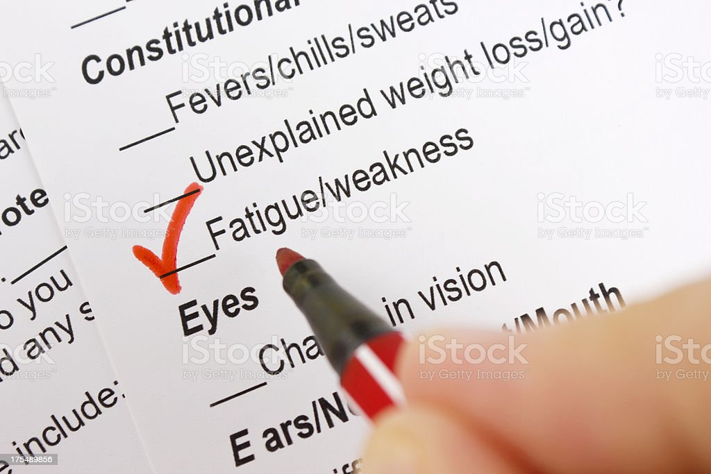 Fatigue & weakness stock photo