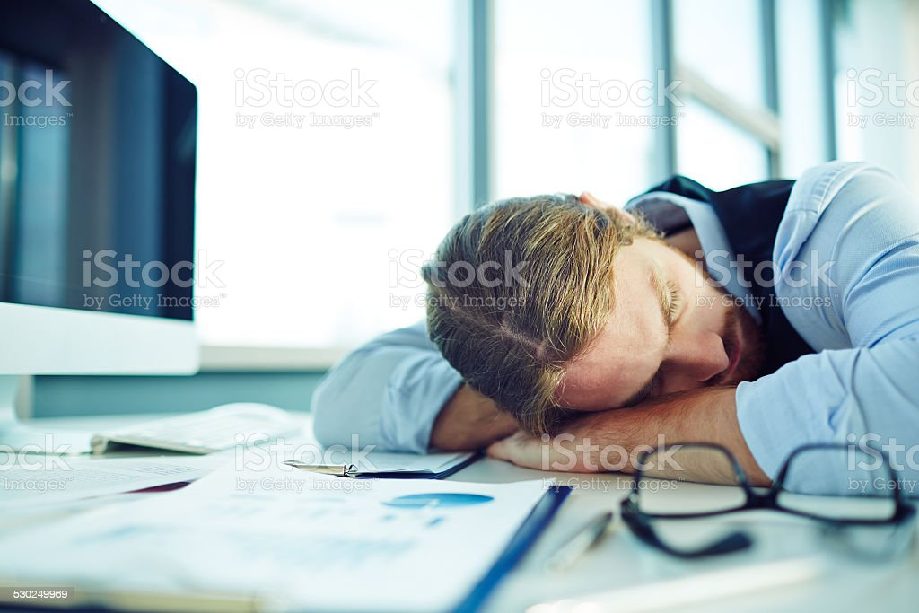 Fatigue businessman stock photo