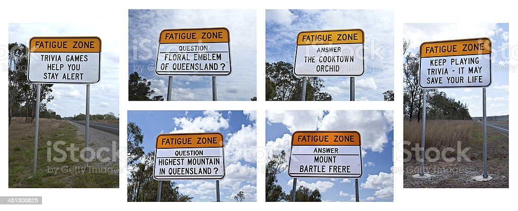 Fatigue Zone Sign royalty-free stock photo