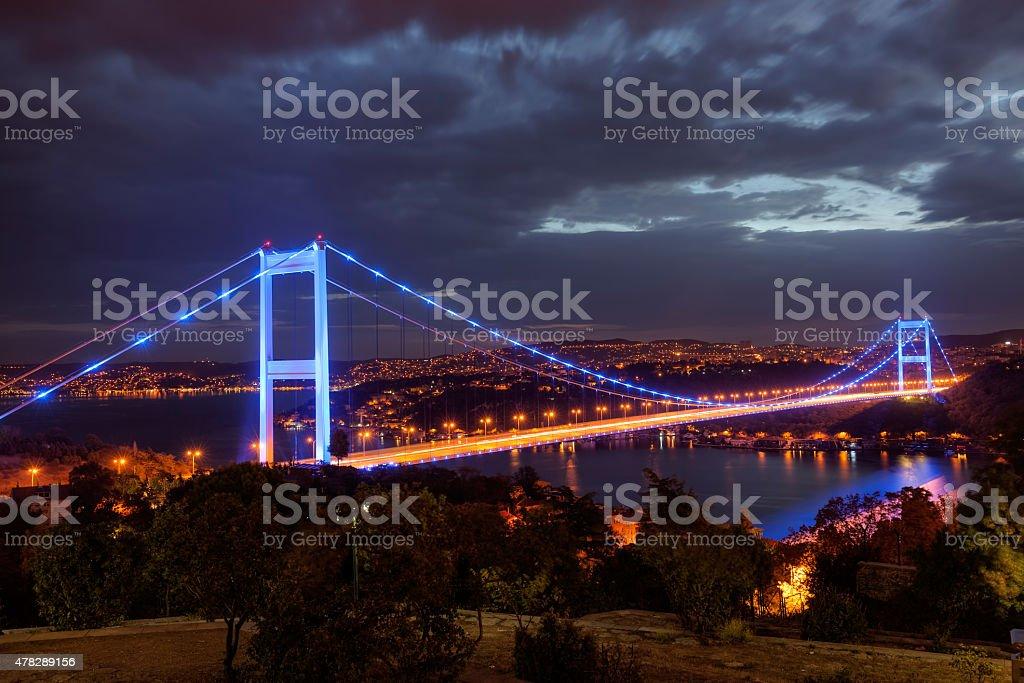 Fatih Sultan Mehmet Bridge stock photo