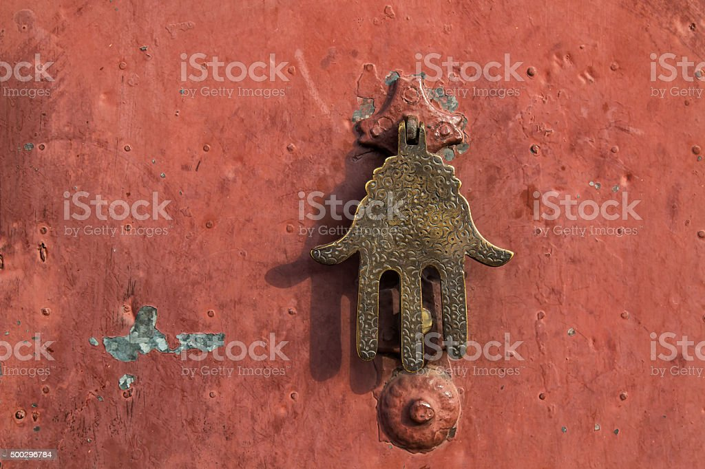 Fatima hand door knocker stock photo