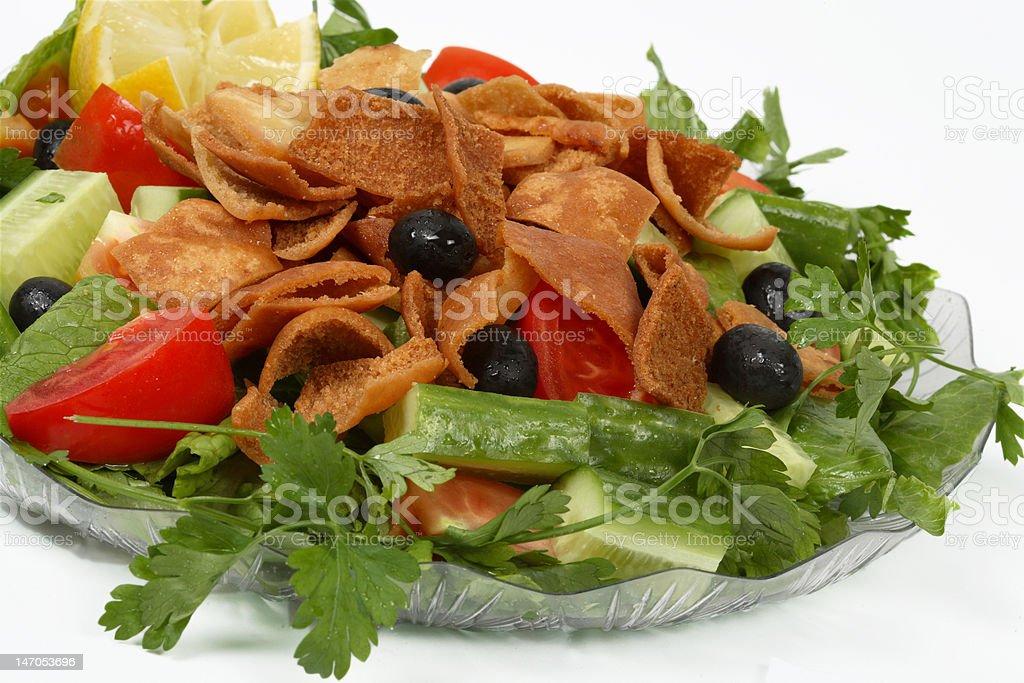 fatoush salad stock photo