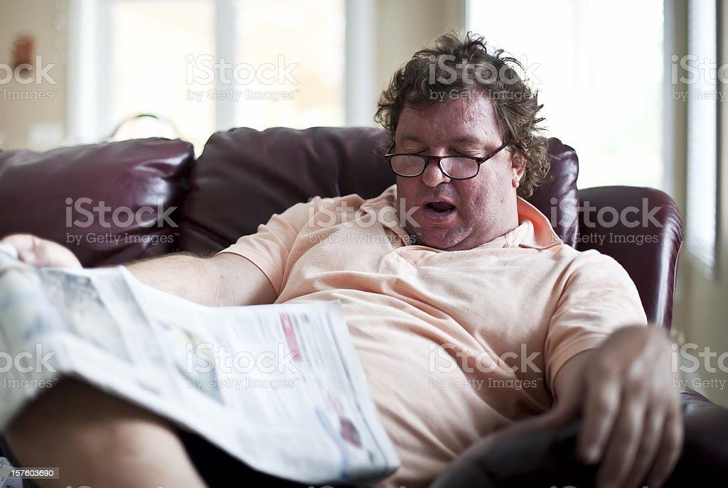 Fatso snoring royalty-free stock photo