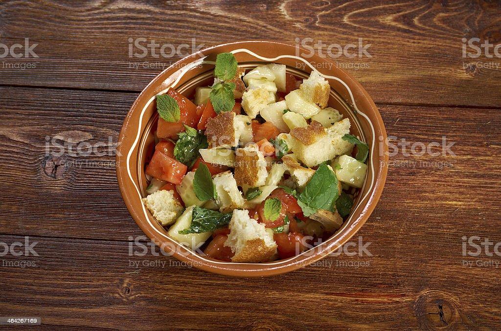 Fattoush - Lebanese Salad stock photo
