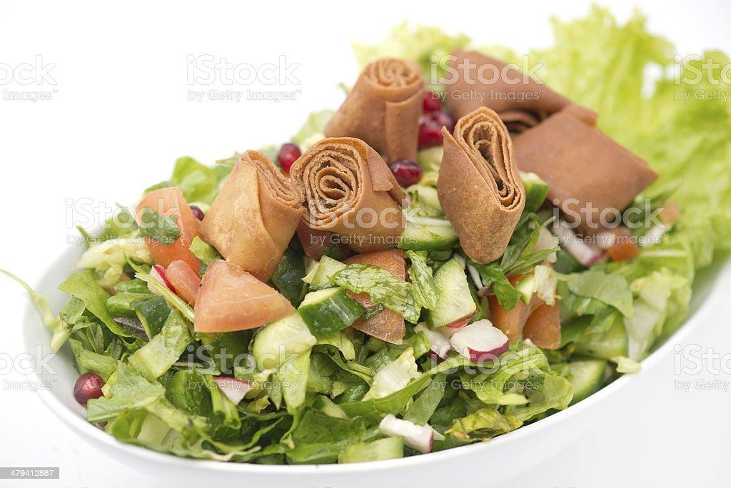 fattoush Salad , Lebanese salad stock photo