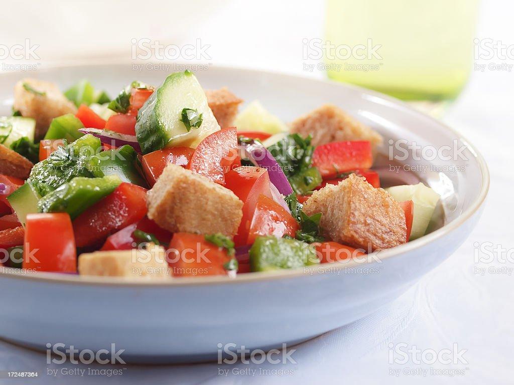 fattoush salad stock photo