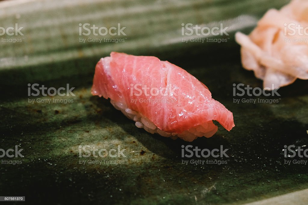 Fatty tuna sushi stock photo