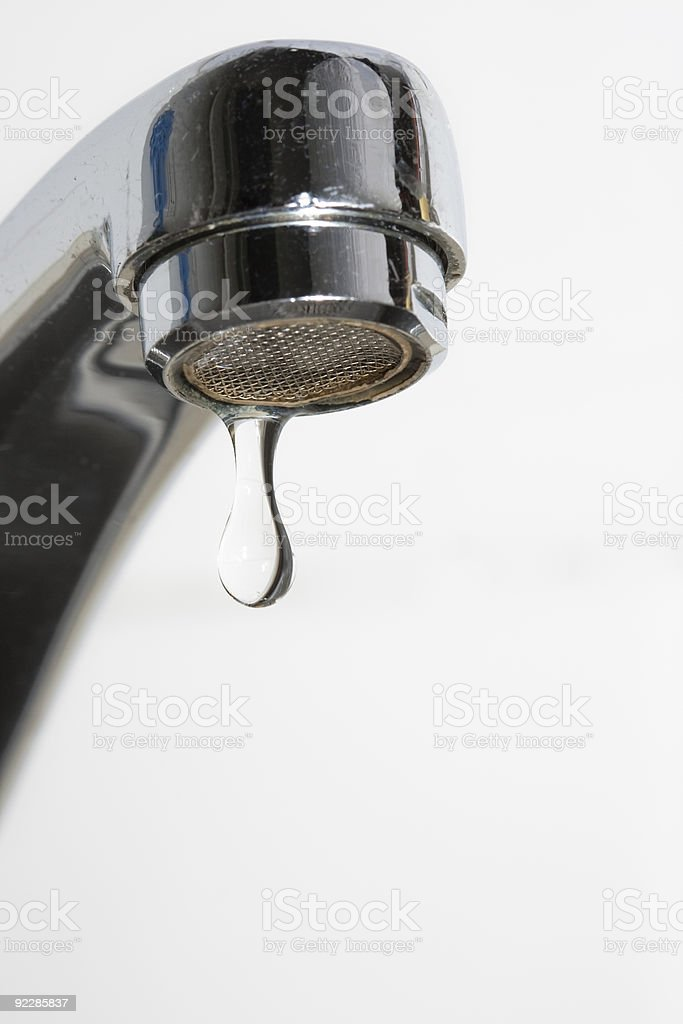 Faucet drop water royalty-free stock photo