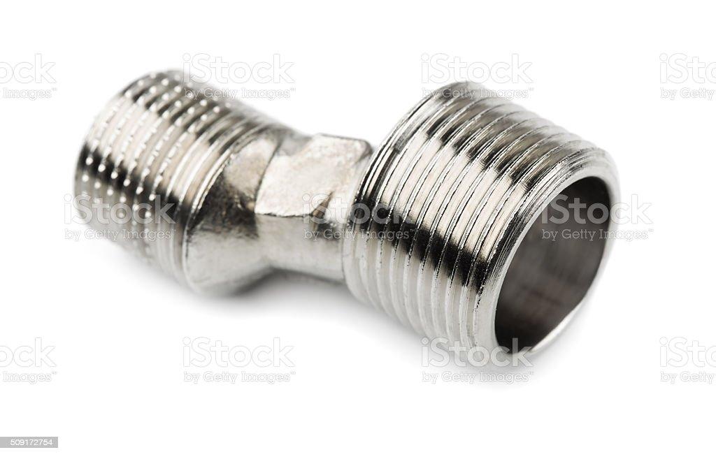 Faucet eccentric connector stock photo