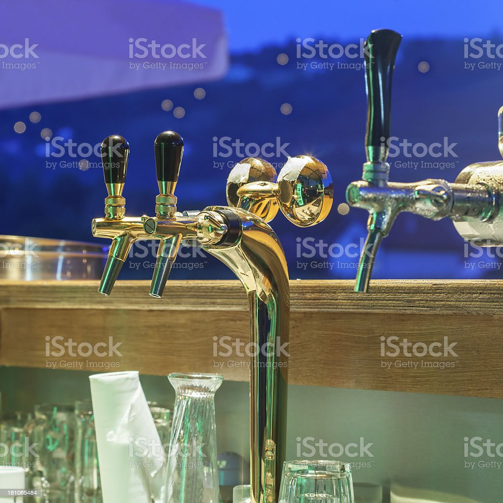 Faucet for Beer royalty-free stock photo