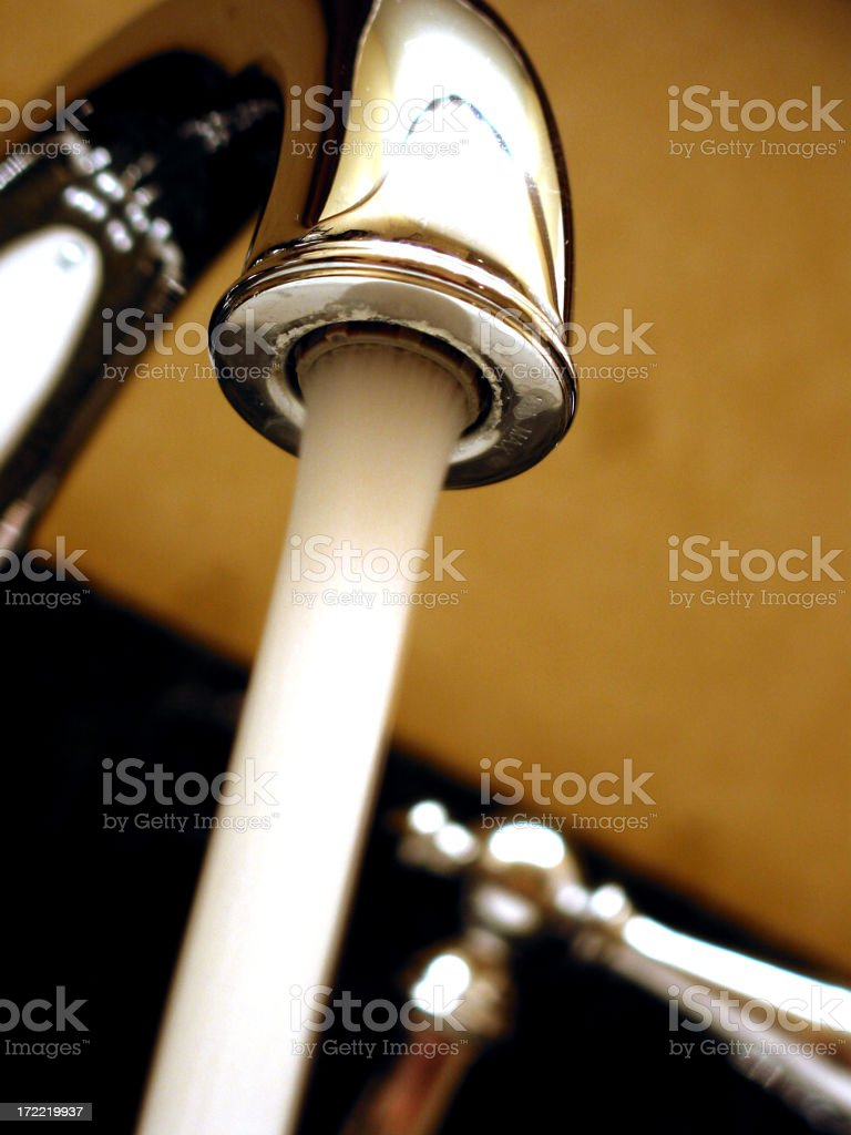 faucet macro 2 royalty-free stock photo