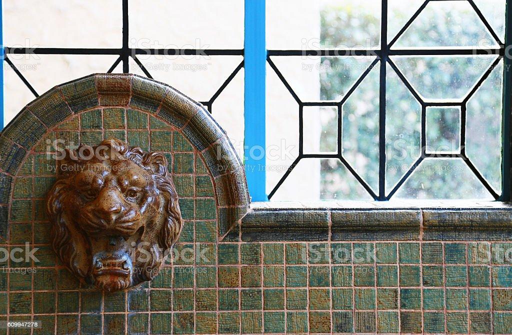 Faucet of the lion foto de stock libre de derechos