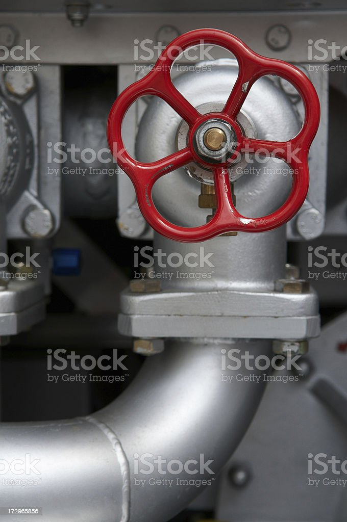 Faucet on a Firetruck royalty-free stock photo
