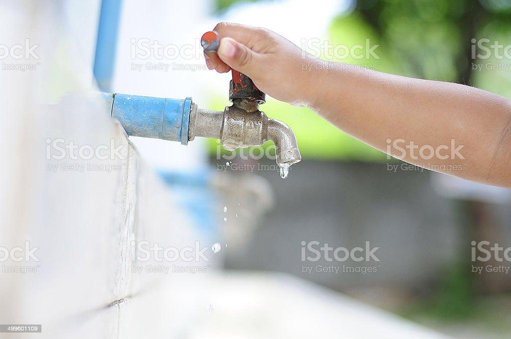 Faucet stock photo