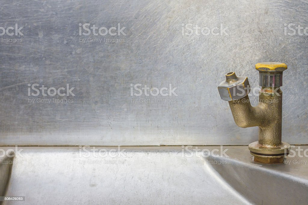 Faucet Stainless Steel - Running Water stock photo