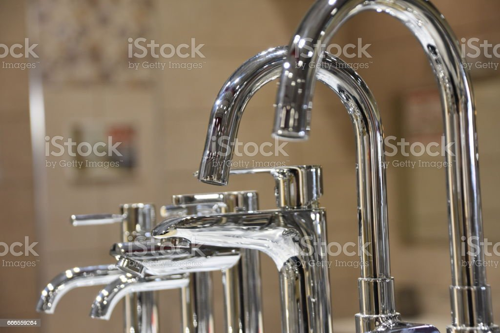 Faucets for Sale stock photo