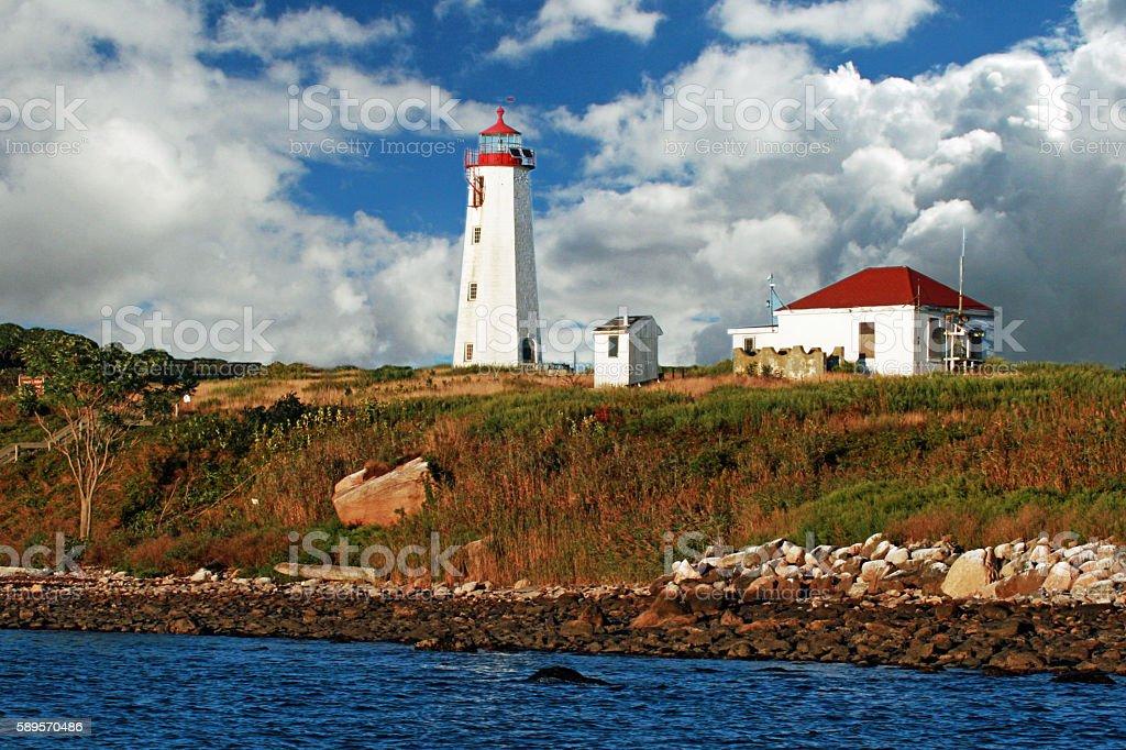 Faulkner's Island Lighthouse stock photo