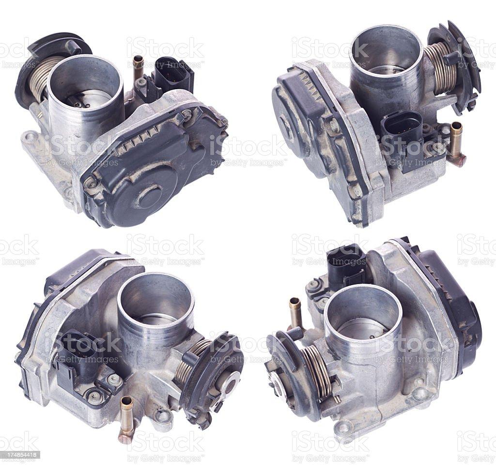 Faulty air intake (car parts) royalty-free stock photo
