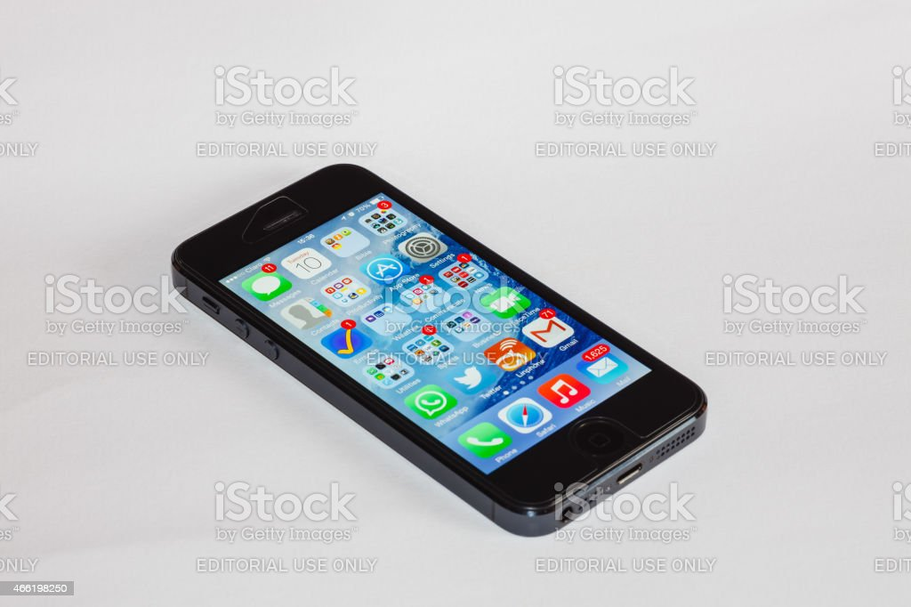 Faulty iPhone 5 - Modern Technology stock photo