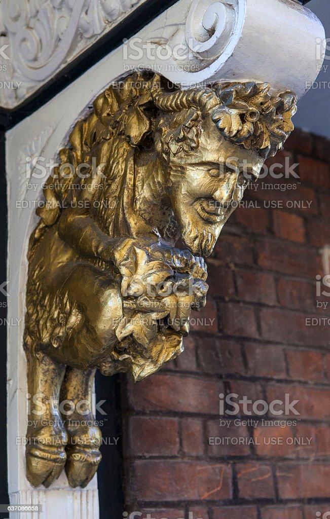 Faun Gargoyle in Oxford stock photo
