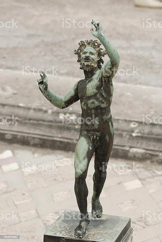 Faun,  Pompeii royalty-free stock photo