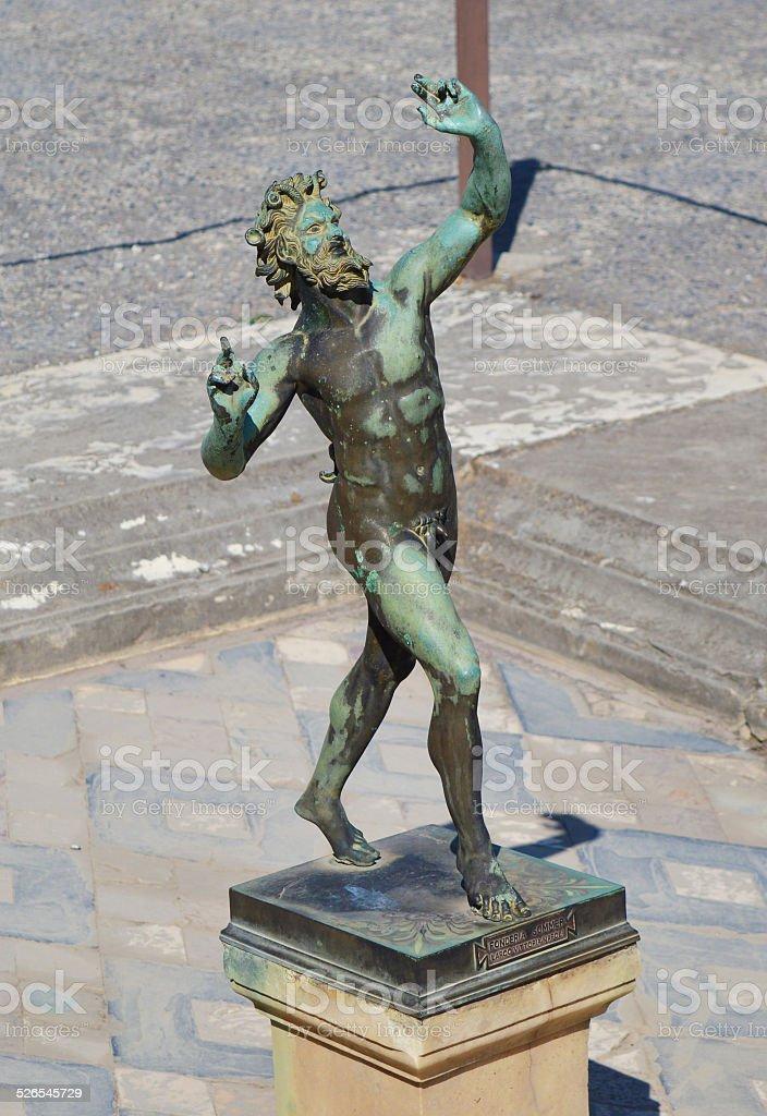 Fauno of Pompei stock photo