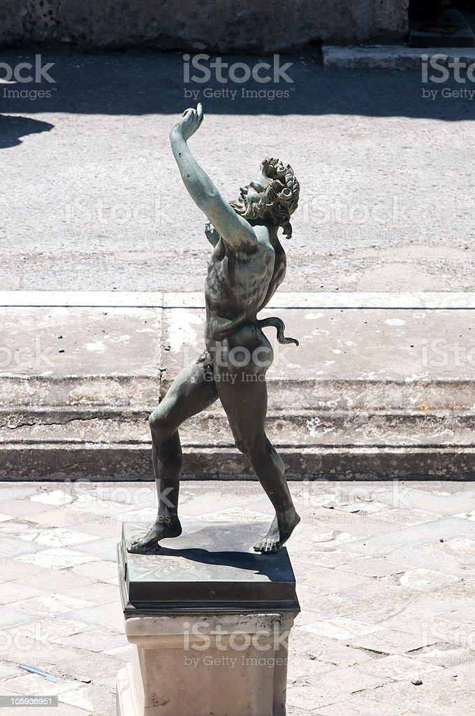 Fauno - Pompeii stock photo