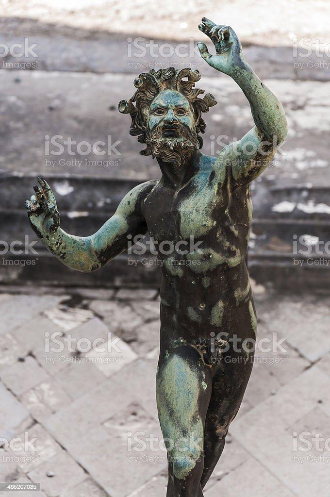 Fauno statue stock photo