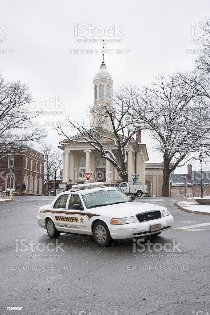 Fauquier County Sheriff car, Warrenton VA stock photo