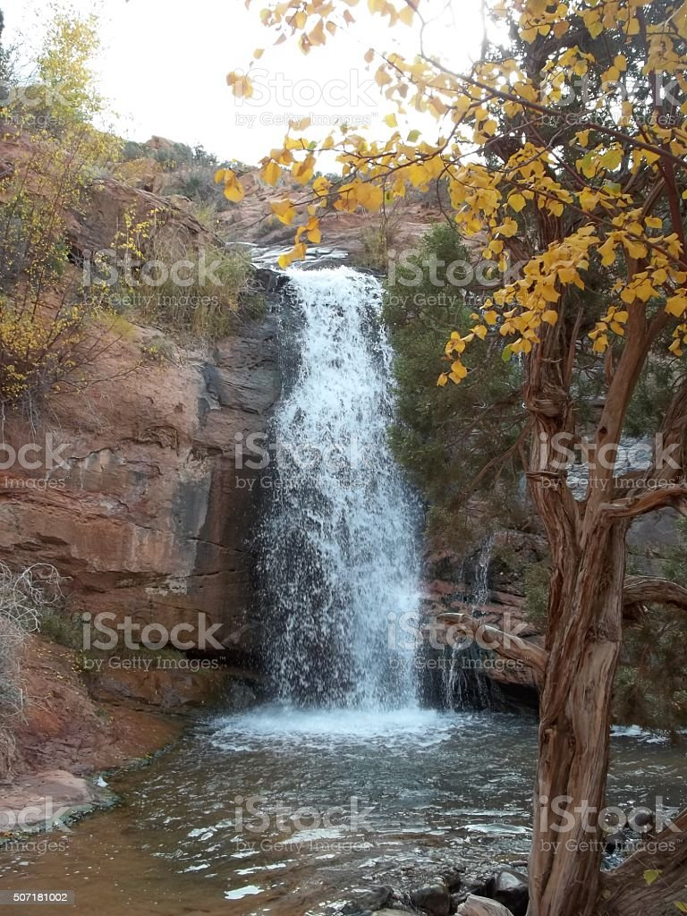 Faux Falls in the fall stock photo
