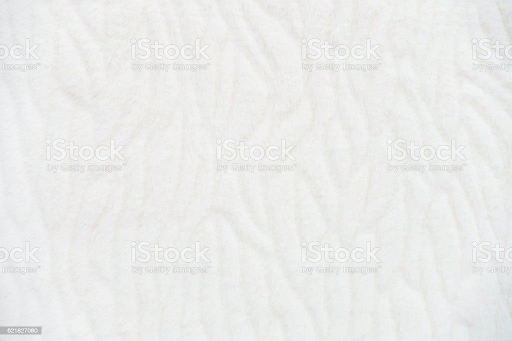 Faux Fur Background in White. stock photo