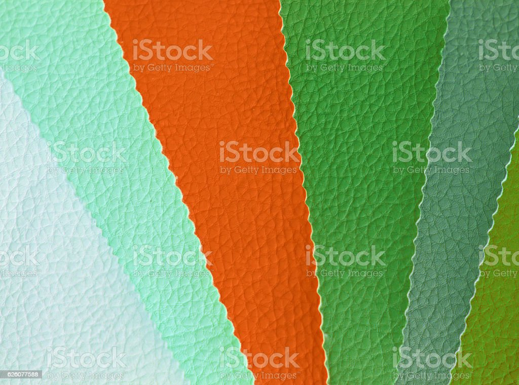 Faux Leather Color Palette stock photo