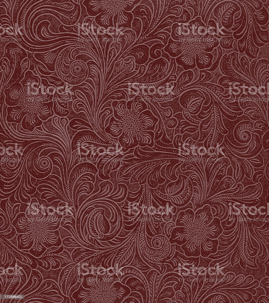 faux leather floral pattern stock photo