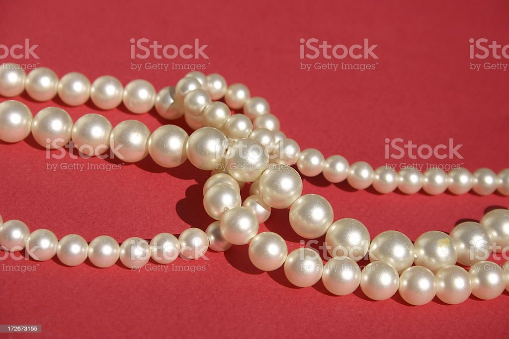 Faux Pearls royalty-free stock photo