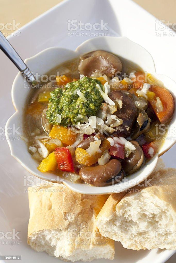 Fava Bean Soup royalty-free stock photo