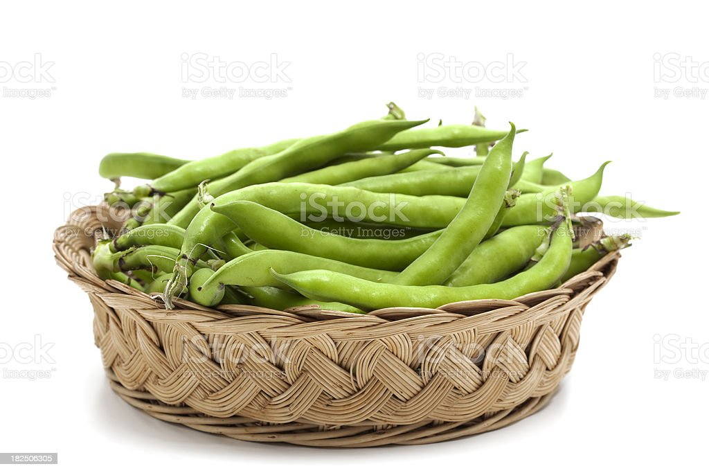 fava beans in basket royalty-free stock photo