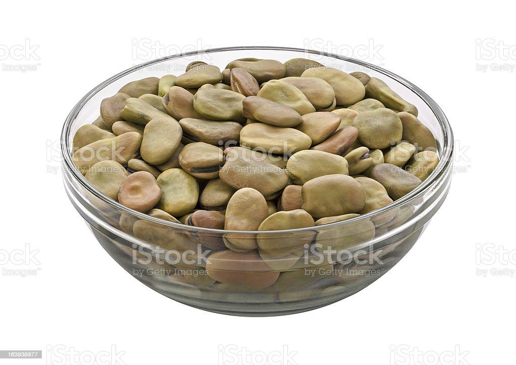 Fava Beans isolated stock photo