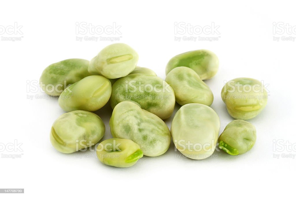 fava beans stock photo
