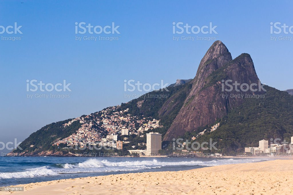 Favela and mountain stock photo