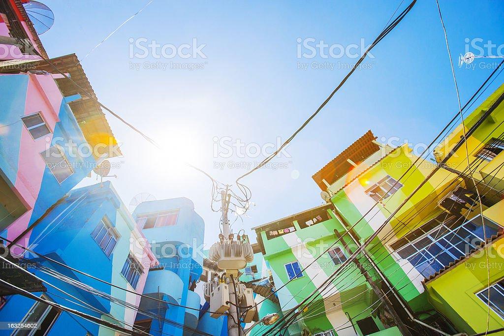 Favela buildings. stock photo