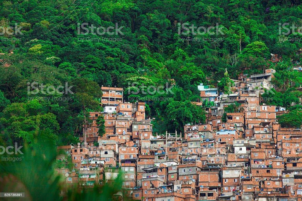 Favela da Rocinha in Rio de Janeiro stock photo
