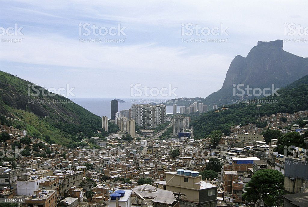 Favela da Rocinha royalty-free stock photo