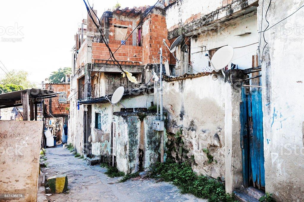 Favela detail in Rio de Janeiro stock photo