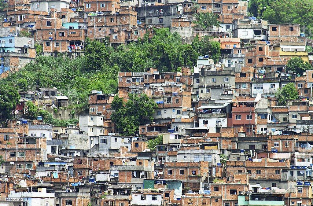 Favela in Brazil royalty-free stock photo
