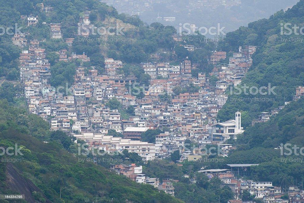 Favela in Rio de Janeiro, Brazil royalty-free stock photo