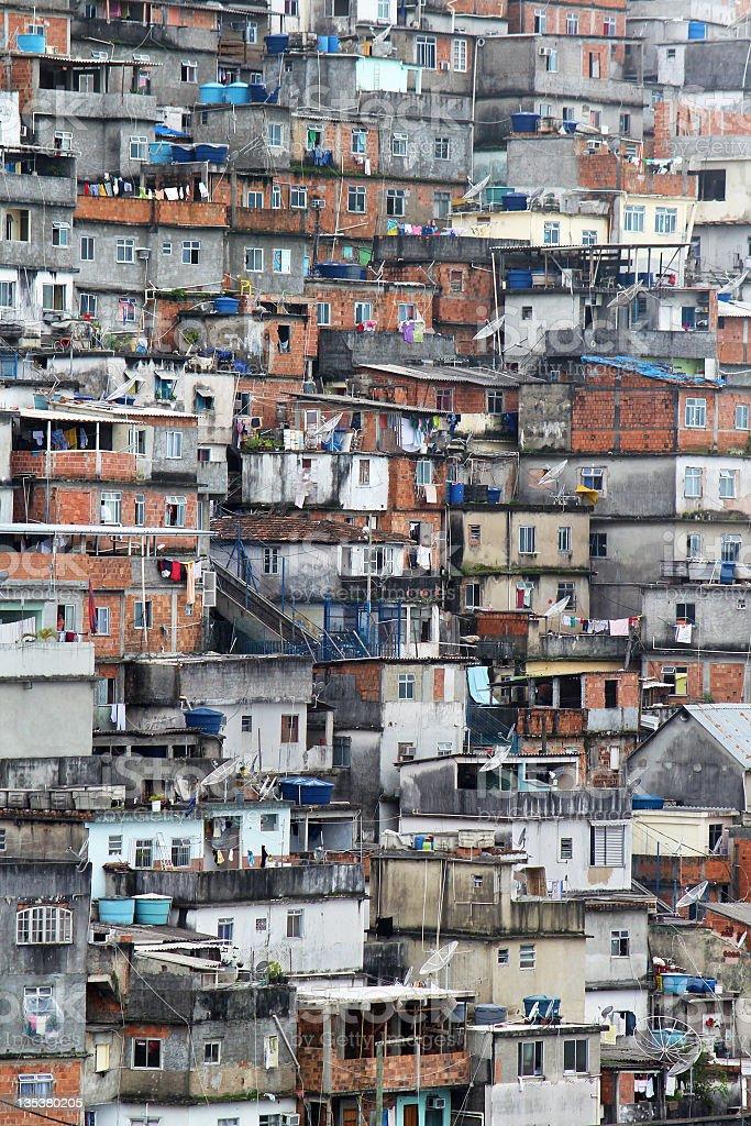 Favela in Rio de Janeiro royalty-free stock photo