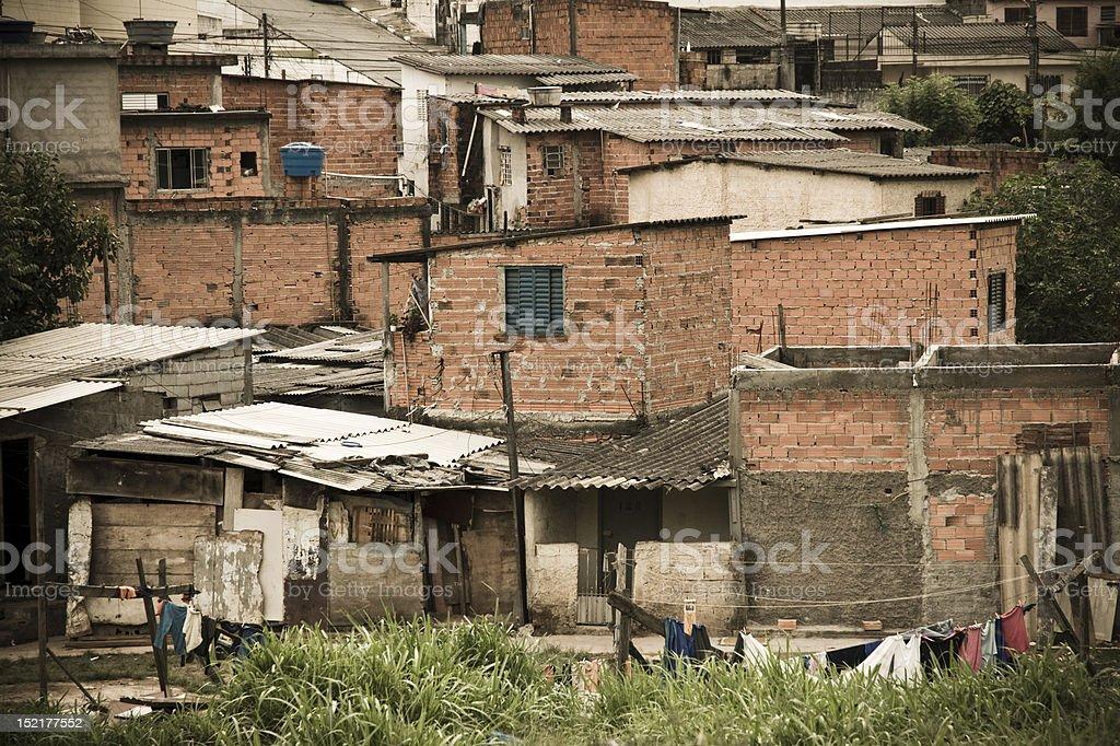 favela in Sao Paulo royalty-free stock photo