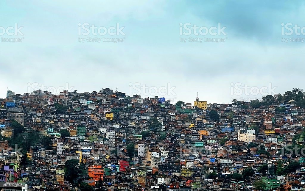 Favela Rocinha stock photo