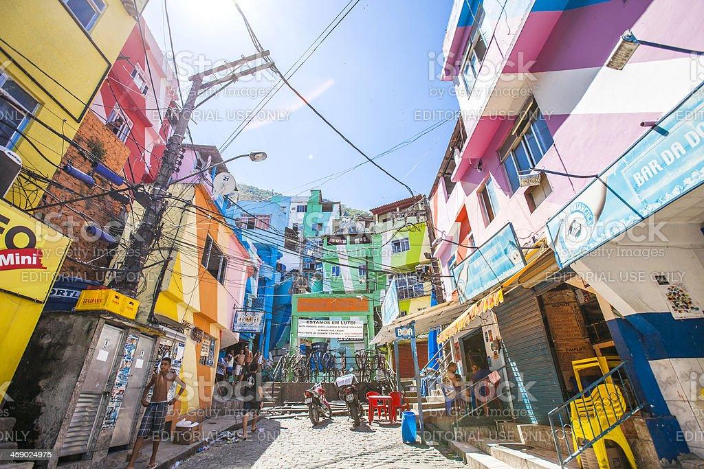 Favela streets. stock photo